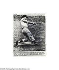 Autographs:Photos, Roger Maris Signed Sixty-First Home Run Wire Photograph. Thedefinitive photographic image of the blast that bested the Bab...