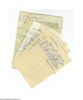 Autographs:Letters, 1960's Baseball Hall of Famers Handwritten Letters Lot of 6.Fascinating archive of six single-page letters to a young coll...