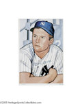 Autographs:Others, Mickey Mantle Signed 1952 Bowman Lithograph. The young legend inthe making strikes a contemplative pose for the artist who...