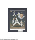 Autographs:Others, Mickey Mantle Signed Artist's Proof Lithograph by Paluso. With a skill and humanity reminiscent of the great Saturday Eveni...