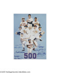 Autographs:Others, 500 Home Run Club Signed Lithograph. Most autograph authenticatorswill tell you that 500 Home Run Club pieces rank among t...