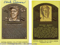 Autographs:Post Cards, Hall of Fame Signed Plaques Lot of 120. Tremendous selection ofHall of Fame autographs reside almost exclusively on the im...