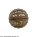 Basketball Collectibles:Balls, 1950's Basketball Hall of Famers Vintage Signed Basketball. Never again can you hope to find such a constellation of basket...
