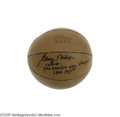 Basketball Collectibles:Balls, 1954 Minneapolis Lakers Team Signed Basketball. The N.B.A.Champions! Collectors of 1950's team signed basketballs are int...