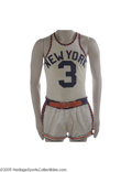 Basketball Collectibles:Uniforms, 1960's New York Knicks Game Worn Uniform Lot. Predating theascension of the great Hall of Famer Bill Bradley is this fine ...