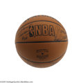 Basketball Collectibles:Balls, 1980's-90's N.B.A. Team Signed Basketballs Lot of 5. Offered arefive team signed basketballs from several of the era's pre... (5Items)