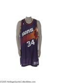 "Basketball Collectibles:Uniforms, 1993-1994 Charles Barkley Game Worn Jersey. ""Sir Charles"" arrivedin the desert a year earlier and came within a game of th..."