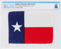 """Apollo 11 Flown """"Lone Star"""" State Flag of Texas Directly From The Armstrong Family Collection™, Certified and..."""