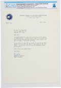 Explorers:Space Exploration, Deke Slayton Typed Letter Signed to Neil Armstrong Regarding the Thrill of Spaceflight Directly From The Armstrong Family ...