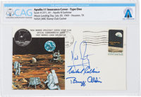 """Apollo 11 Crew-Signed """"Type One"""" Insurance Cover Directly From The Armstrong Family Collection™, Certified and..."""