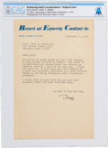 "Explorers:Space Exploration, Edwin E. ""Buzz"" Aldrin Typed Letter Signed to Neil Armstrong Regarding His Book, Directly From The Armstrong Family Collec..."