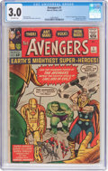 Silver Age (1956-1969):Superhero, The Avengers #1 (Marvel, 1963) CGC GD/VG 3.0 Off-white pages....