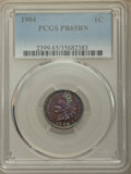 Proof Indian Cents, 1904 1C PR65 Brown PCGS. PCGS Population: (9/8). NGC Census: (7/4). CDN: $325 Whsle. Bid for problem-free NGC/PCGS PR65. Mi...