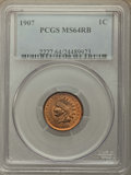 Indian Cents: , 1907 1C MS64 Red and Brown PCGS. PCGS Population: (868/183). NGC Census: (505/223). CDN: $95 Whsle. Bid for problem-free NG...