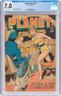 Golden Age (1938-1955):Science Fiction, Planet Comics #50 (Fiction House, 1947) CGC FN/VF 7.0 Off-whitepages....