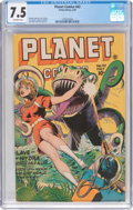 Golden Age (1938-1955):Science Fiction, Planet Comics #42 (Fiction House, 1946) CGC VF- 7.5 Off-whitepages....