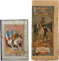 "William F. ""Buffalo Bill"" Cody Tours France: Two Scarce Souvenirs.... (Total: 2)"