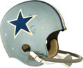 Football Collectibles:Helmets, Mid 1960's Dallas Cowboys Game Worn Helmet - Extremely Rare Style!...