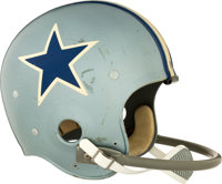 Mid 1960's Dallas Cowboys Game Worn Helmet - Extremely Rare Style!