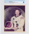 Explorers:Space Exploration, Neil Armstrong: Original NASA Color Photograph, the Iconic White Spacesuit Photo, Directly From The Armstrong Family Colle...