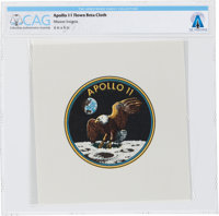 Apollo 11 Flown Beta Cloth Mission Insignia Directly From The Armstrong Family Collection™, Certified and Encapsul