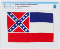 Apollo 11 Flown Flag of the State of Mississippi Directly From The Armstrong Family Collection™, Certified and Enc