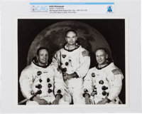 Apollo 11: Original NASA Photograph of the Prime Crew in their White Spacesuits Directly From The Armstrong Family