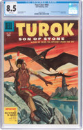 Golden Age (1938-1955):Miscellaneous, Four Color #656 Turok, Son of Stone (Dell, 1955) CGC VF+ 8.5 White pages....