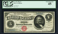 Large Size:Silver Certificates, Fr. 259 $5 1886 Silver Certificate PCGS Extremely Fine 45.. ...