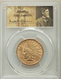 Indian Eagles: , 1908-D $10 No Motto AU58 PCGS. PCGS Population: (314/673). NGC Census: (389/546). CDN: $875 Whsle. Bid for problem-free NGC...