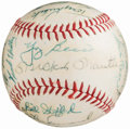 Autographs:Baseballs, 1960 New York Yankees - American League Champions - Team SignedBaseball (26 Signatures)....