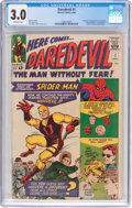 Silver Age (1956-1969):Superhero, Daredevil #1 (Marvel, 1964) CGC GD/VG 3.0 Off-white pages....