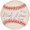 "Autographs:Baseballs, Hank Aaron ""H.R. King"" Single Signed Baseball...."
