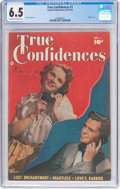 Golden Age (1938-1955):Romance, True Confidences #1 (Fawcett Publications, 1949) CGC FN+ 6.5Off-white to white pages....