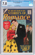 Silver Age (1956-1969):Romance, Stories of Romance #12 (Atlas, 1957) CGC FN/VF 7.0 Off-white towhite pages....