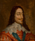 Fine Art - Painting, European:Antique  (Pre 1900), After Anthony van Dyck (Flemish, 1599-1641). Portrait of KingCharles I. Oil on panel. 12-1/2 x 10-1/4 inches (31.8 x 26...