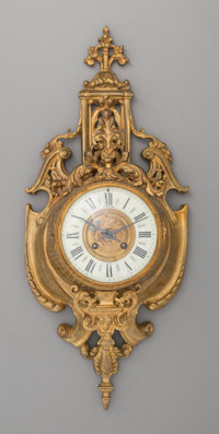 A French Louis XVI-Style Gilt Bronze Cartel Clock, early 20th century Marks to clock face: J. MEYER, 31.33. Bd