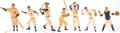 Baseball Collectibles:Hartland Statues, 1958-62 Hartland Baseball Statues Collection (7)....
