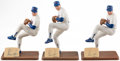 Autographs:Others, Nolan Ryan Signed Southland Figurine Trio (3)....