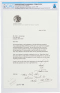 Explorers:Space Exploration, Gene Cernan Typed Letter Signed to Neil Armstrong with the Original Accompanying Letter from CNN, Both Directly From T... (Total: 3 Items)