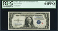 """Small Size:Silver Certificates, Fr. 1609* $1 1935A """"R"""" Silver Certificate. PCGS Very Choice New 64PPQ.. ..."""