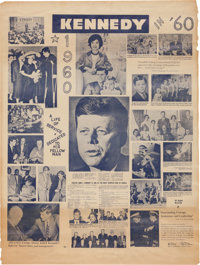 """John F. Kennedy: Unusual """"Biographical"""" Campaign Poster"""