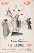 Advertising:Paper Items, Annie Oakley: Rare DuPont Ammunition Advertising Card Picturing Her, with Oakley Family Provenance. ...