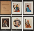 """Advertising:Paper Items, William F. """"Buffalo Bill"""" Cody: Scarce Folio of Colorful 1907Courier Company Chromolithographs. ..."""