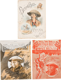 "William F. ""Buffalo Bill"" Cody: Three Pieces of Buffalo Bill Sheet Music"