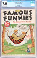 Platinum Age (1897-1937):Miscellaneous, Famous Funnies #13 (Eastern Color, 1935) CGC FN/VF 7.0 Off-white towhite pages....