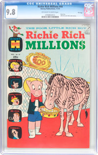 Richie Rich Millions #44 File Copy (Harvey, 1970) CGC NM/MT 9.8 Off-white to white pages