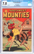 Golden Age (1938-1955):Adventure, Northwest Mounties #1 - Mile High Pedigree (St. John, 1948) CGCFN/VF 7.0 Off-white to white pages....