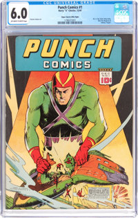 Punch Comics #1 - Mile High Pedigree (Chesler, 1941) CGC FN 6.0 Off-white to white pages