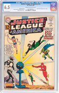 Silver Age (1956-1969):Superhero, Justice League of America #12 (DC, 1962) CGC FN+ 6.5 Cream to off-white pages....
